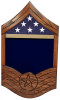 Air Force E-8 SMSgt All Stripe Shadow Box 1 Air Force Shadow Box