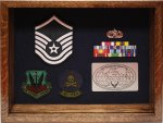NCO Shadow Box 1 Air Force Shadow Box