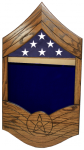 Air Force E-9 CMSgt All Stripe Shadow Box 1 Air Force Shadow Box
