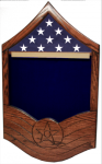 Air Force E-7 MSgt All Stripe Shadow Box  1 Air Force Shadow Box