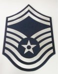 SMSgt Mirror Stripe Air Force