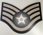 SSgt Mirror Stripe Air Force