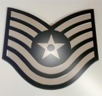 TSgt Mirror Stripe Air Force