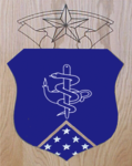 Medical Badge Air Force Shadow Box