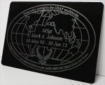 Globe Plate Engraving Plates