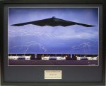 B-2's in Hanger Lithograph Lithographs