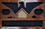 Colonel Shadow Box (Extended) Navy Shadow Box