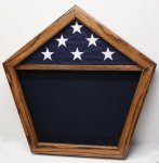 Pentagon Shadow Box Navy Shadow Box